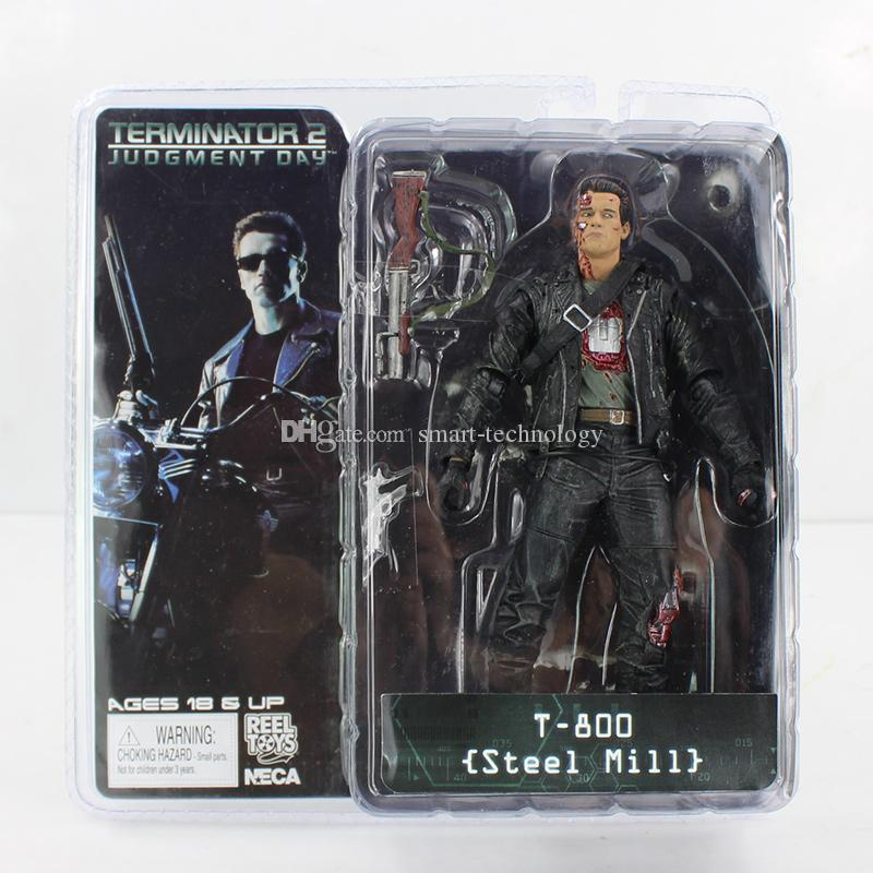 NECA The Terminator 2 T-800 Steel Mill Figure Action Figure Toy 18CM for boy's gift