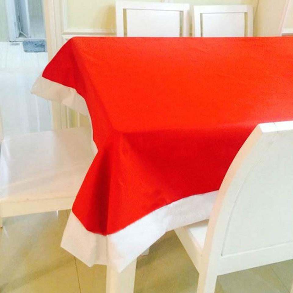 Venta caliente 132 * 208 cm decoración de Navidad para el hogar Super largo mantel de Navidad Navidad paño de tabla rojo envío gratis