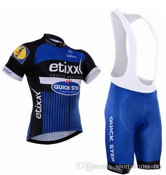 Etixx Quick Step 2017 Roupa Ciclismo manica corta set Jerseys / traspirante Bicicletta vestiti di riciclaggio / Quick-Dry Bike Sportwear