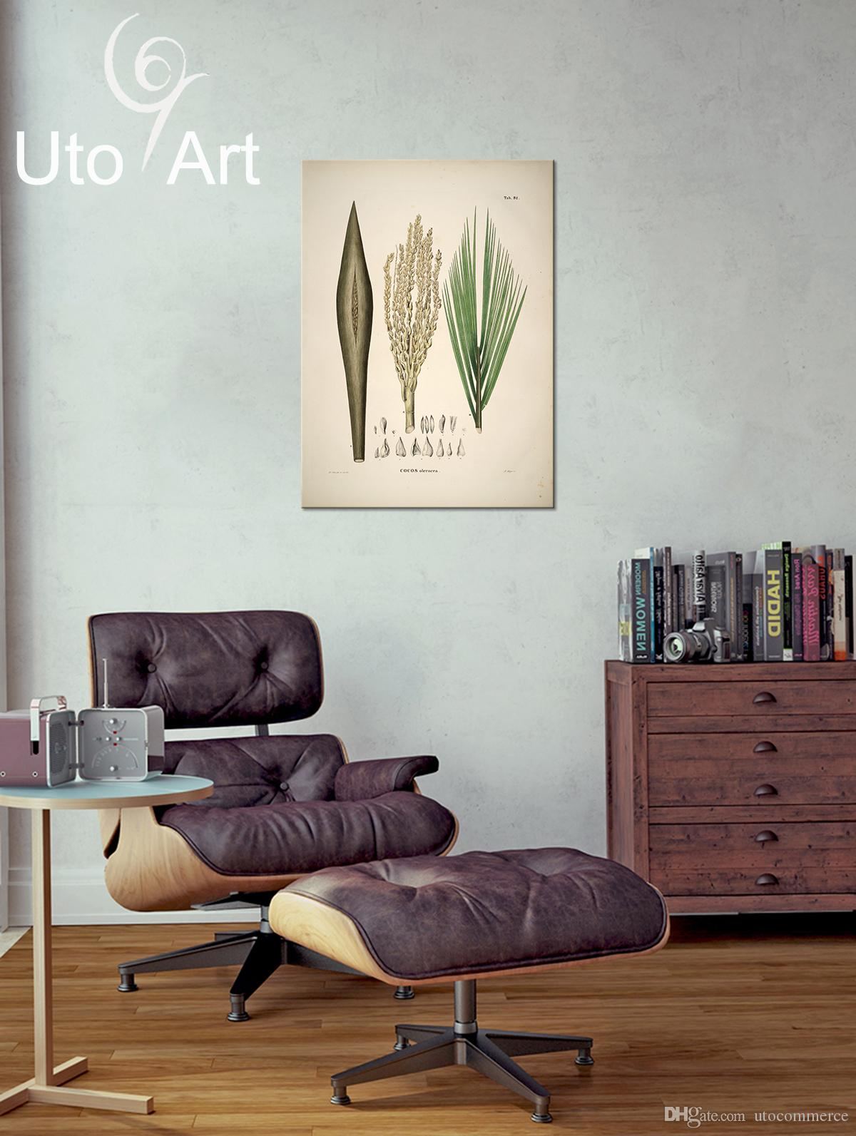 HD Modern Pictures Wall Art Prictures Custom Decoration Painting Plant Digital Picture Spray Print Leaves on Canvas