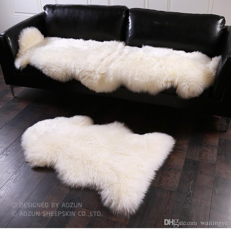 AOZUN 1P 4P Real NZ Sheepskin Rug Shaggy Sheep Skin Fur Carpet For Home  Decor White Fur Sofa Cover Blanket Sheepskin Rug Fur Sofa Cushion Sheep Fur  Blanket ...