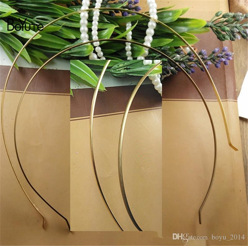BoYuTe 5 шт. металл латунь античная бронза 36 см периметр классический равнина Hairband для женщин DIY ювелирных аксессуаров