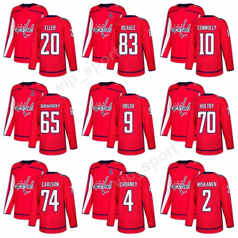 on sale 7222c 64f34 Washington Capitals 2018 Hockey 65 Andre Burakovsky Jersey 20 Lars Eller 83  Jay Beagle 10 Brett Connolly 4 Taylor Chorney Custom Jerseys