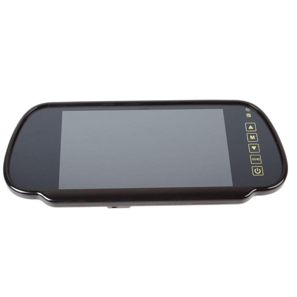 7-дюймовый TFT LCD цветной экран дистанционного управления автомобиля зеркало монитор для камеры заднего вида Видеомагнитофон