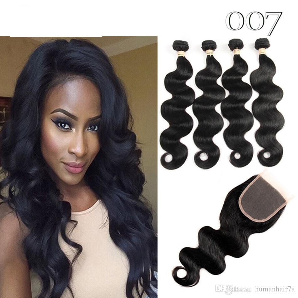 007 Hair Malaysian Body Wave With Closure Amazing Hair Unbelievable