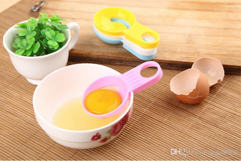 Manico corto colore creativo separatore bianco d'uovo, lavorazione dell'uovo, separatore di uova, utensili da cucina