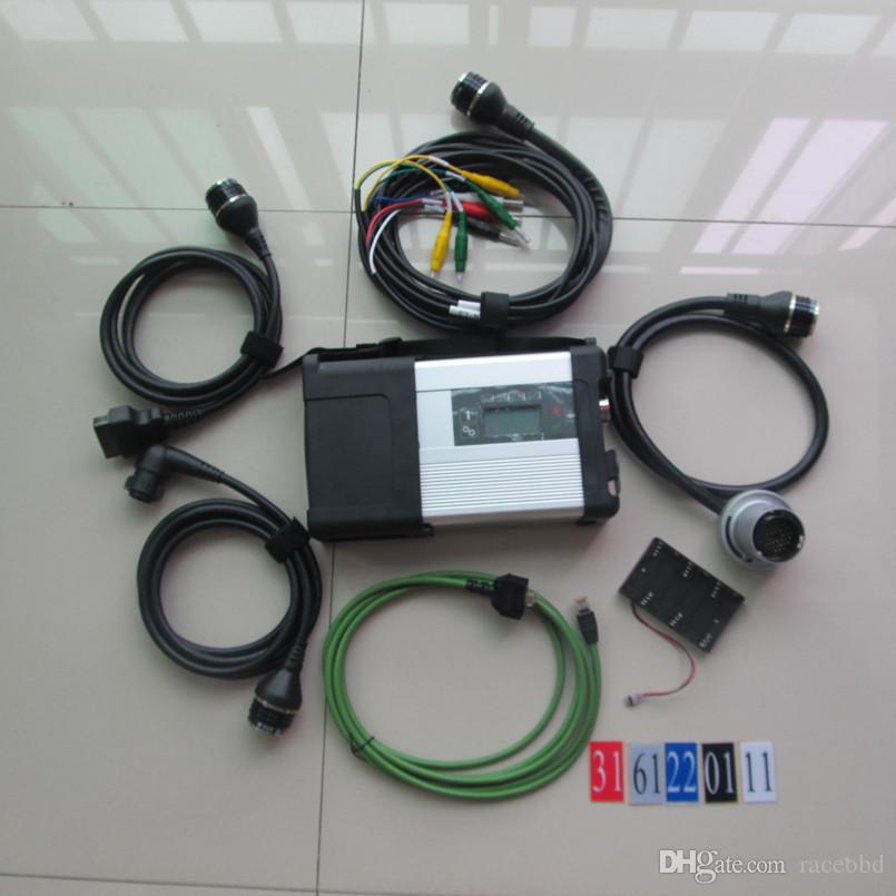para MB Estrela C5 wi-fi ferramenta MB SD conectar Compact 5 diagnóstico mais novo para carros e caminhões de diagnóstico sem HDD