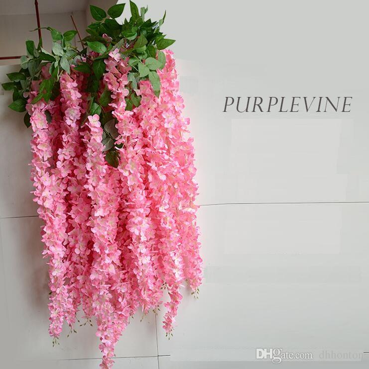 Artificial Wisteria Vine Rattan Silk Flower 1.64 Meter for Wedding Centerpieces Decorations Bouquet Garland Home Ornament