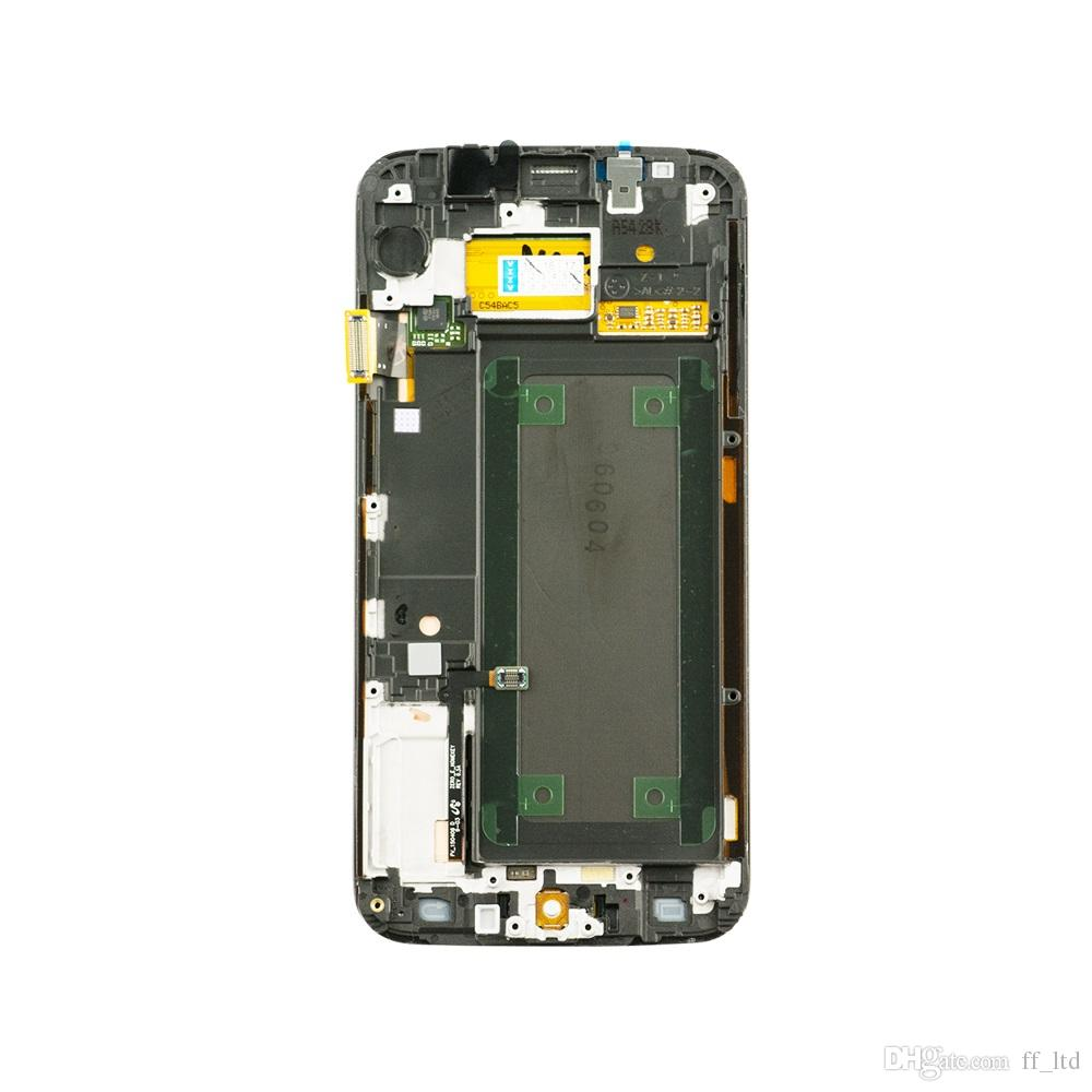 Screen For Samsung S6 Edge Plus LCD Display Digitizer Touch Screen Assembly with Frame g928f g928v G928a G928p g928fd 100% Tested