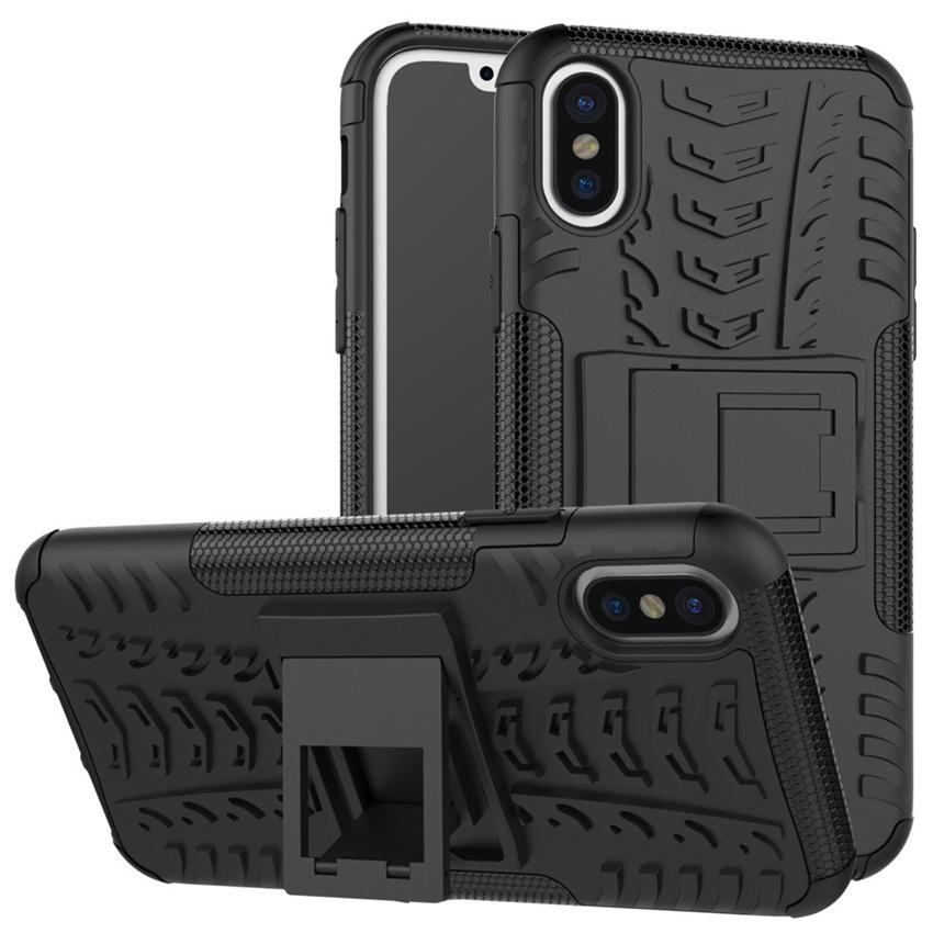 Newest Arrival Phone Model 8 Tire Grain Pattern Hybrid Tyre Armor PC+TPU Rubber Holder Back Cover Case For Iphone 8 7 7+ Samsung 8 S8+