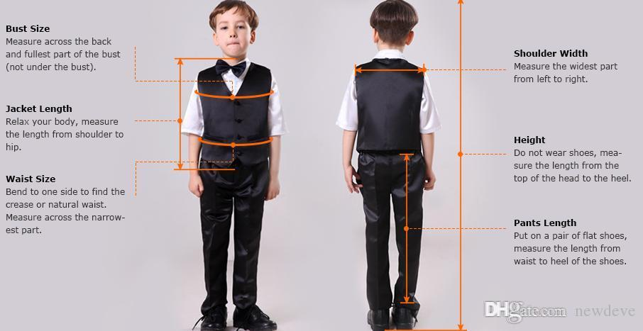 Custom Made Boys Suits For Weddings Black Kids Tuxedos New Arrival Little Men Suit Formal Wear
