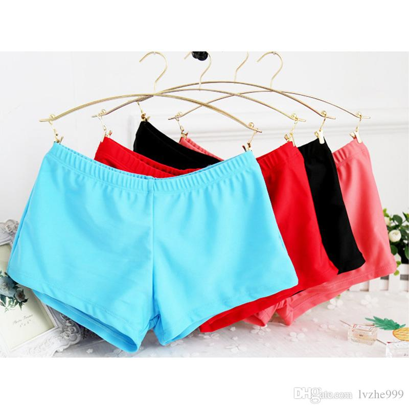 Neue Frauen Damen Schwimmen Shorts Yoga Gym Badehose Boxershorts Badeanzug 8 Farbe 5 Größe