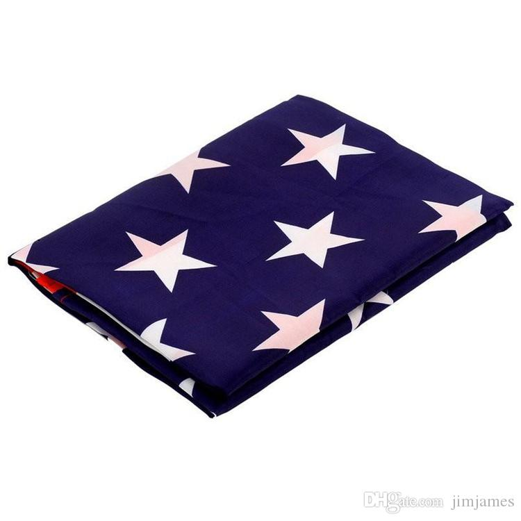 Jumbo 90*150cm 3'x5'American Flag USA US FT Polyester Be Proud Show off Your Patriotism