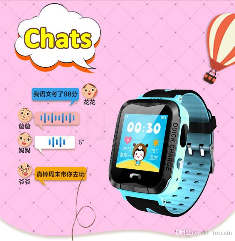 IP67 Waterproof V6G Smart Watch GPS Tracker Monitor SOS Call with Camera Lighting Baby Swimming Smartwatch for Kids Child