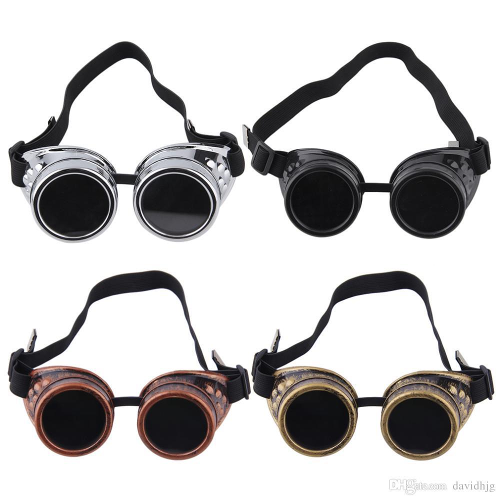 e72fa4c7acf4d Cyber Goggles Steampunk Glasses Vintage Retro Welding Punk Gothic Victorian  Durable Goggles glasses sunglasses 2017 Hot Sale