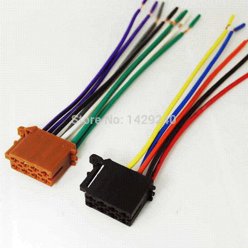 2018 Universal Male Iso Radio Wire Cable Wiring Harness Car Stereo ...