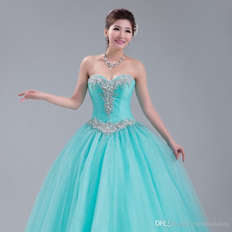 파란색 크리스탈 긴 명주 댄스 파티 드레스 2019 새로운 연인 댄스 파티 드레스 레이스 업 성인식 드레스 드롭 배송