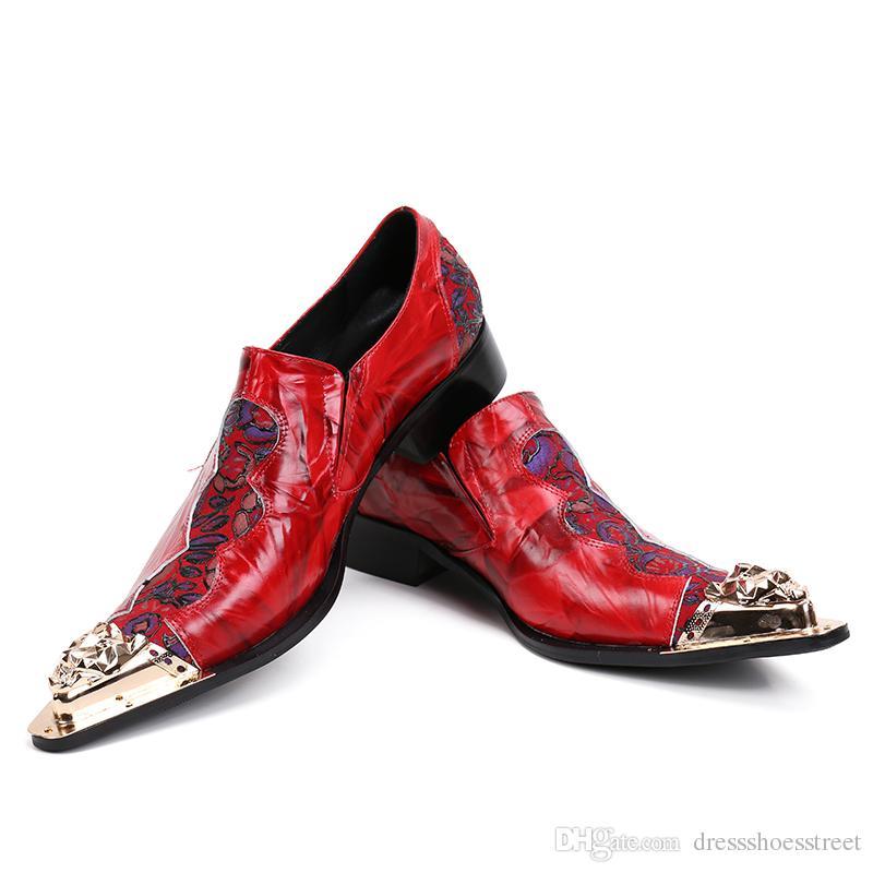 New Style Fashion Men Oxfords Blumenstickerei Handmade Men Dress Schuhe Party und Hochzeit Herrenmode Wohnungen Schuhe