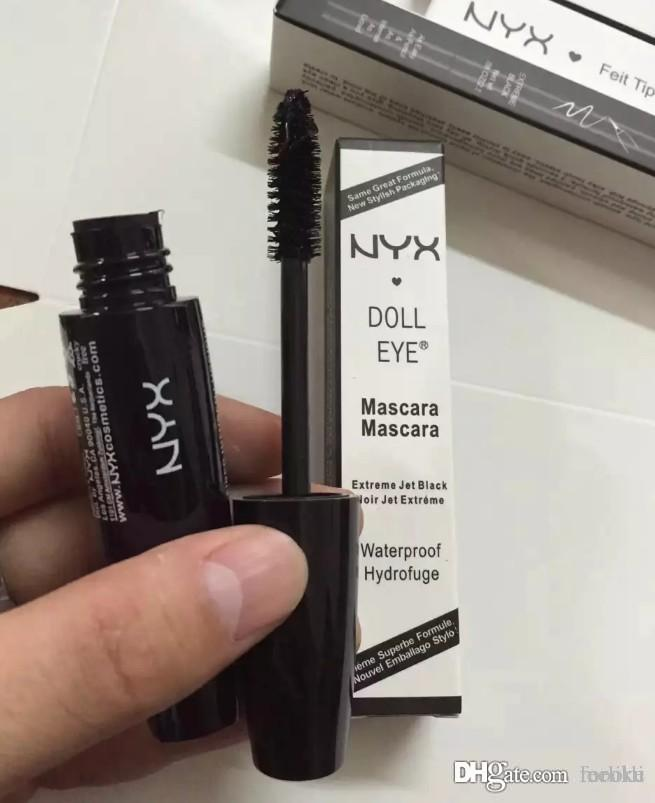 3a97f32a843 Makeup NYX Doll Eye Mascara Extreme Jet Black Noir Jet Extreme Waterproof  Hydrofuge Curls Eyelashes Brand Cosmetics Makeup Classes Private Label  Cosmetics ...