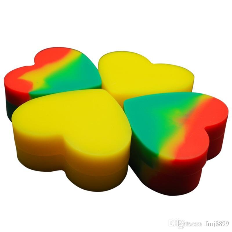 Balmumu konteynerler silikon kutu 85 ml 26 ml 18 ml yapışmaz silikon konteyner gıda sınıfı kavanozlar dab aracı depolama kavanoz buharlaştırıcı için yağ tutucu FDA