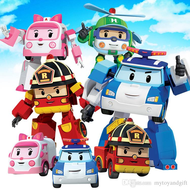 Funny robocar poli deformation police robot children 39 s - Robot car polly ...