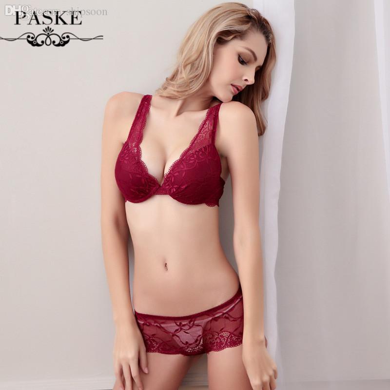 32fe677a8 Compre Atacado França Marca De Renda Cheia De Sutiã De Casamento Breve Moda  Íntima Sexy Push Up Bras E Transparente Mulheres Intimates Bra E Panty Set  216 ...