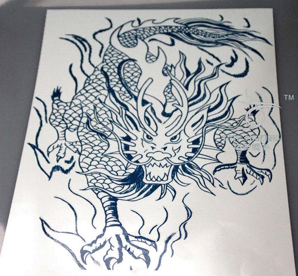 Acheter Tatouages Temporaires Dos Dragon Chinois Faux Transfert
