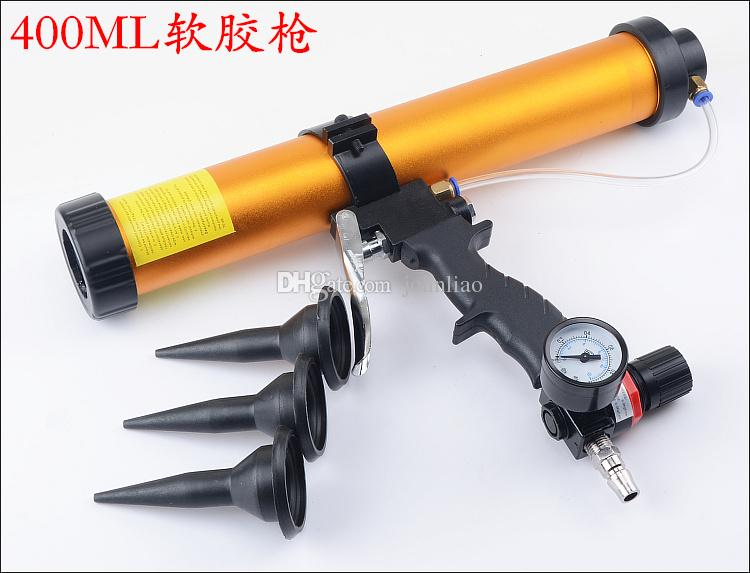 professional 400ml pneumatic air glass glue guns air caulking gun