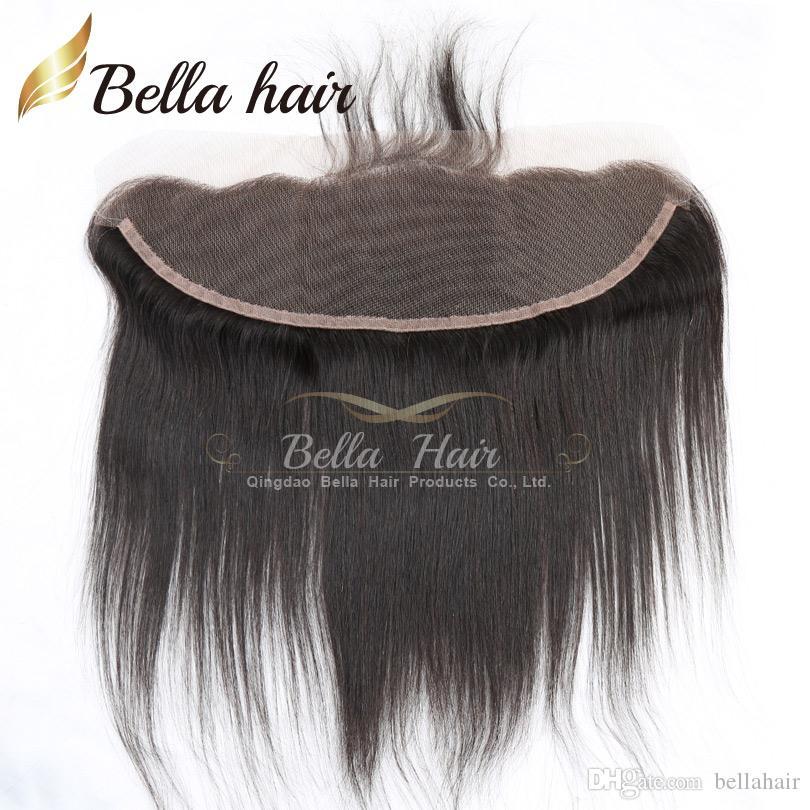 Uygun Bakire İnsan Saç Atkılar Dantel Frontal 13x4 ile