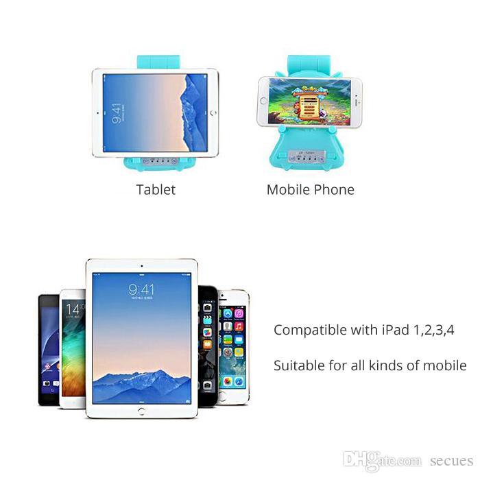 New Mobile Tablet Cooler Foldable Support Base LED Light Portable USB Cooling Fan