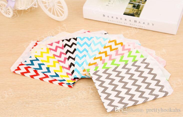/ coloré favoris papier sacs vente chaude collation sacs vraies images parti alimentaire papier sac 17.8x12.7