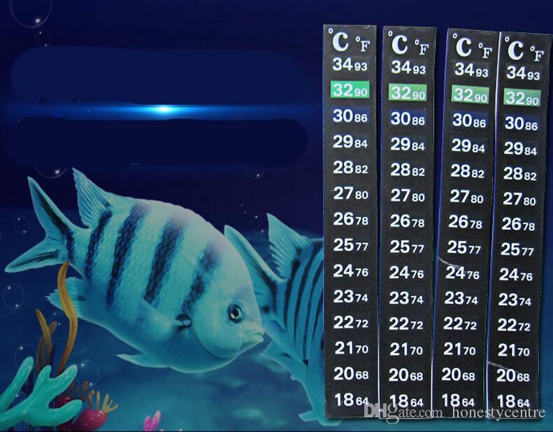 5 pçs / lote Alta Qualidade Dupla Escala C / F Aquário Digital Tanque De Peixes Termômetro mudar a Temperatura da cor Adesivo