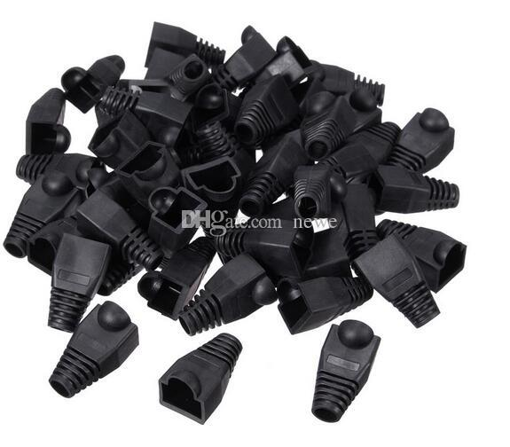 New Arrive Black Boot Cap Plug Head For RJ45 Cat5/6 Cable Connector Modular Network
