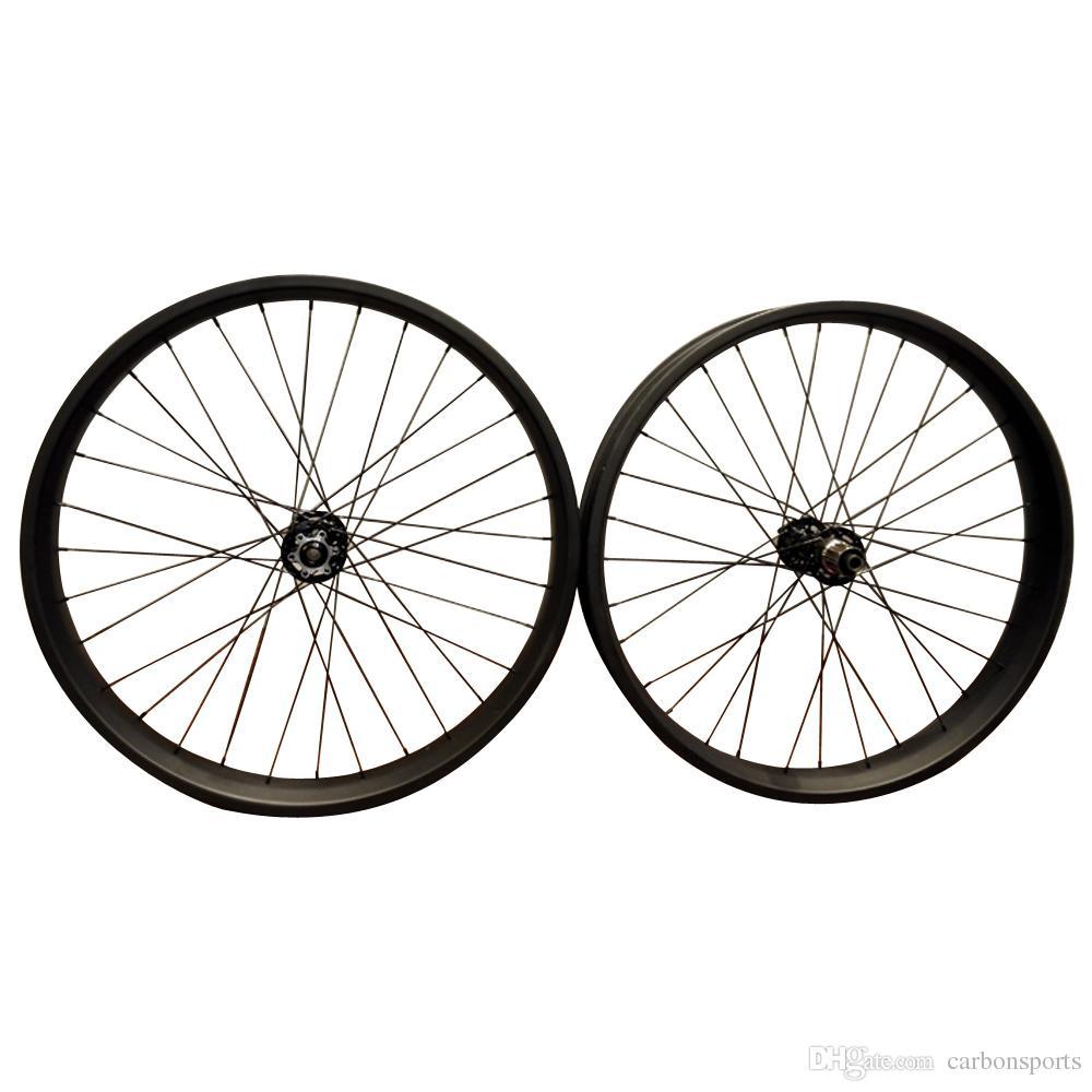 26er Carbon Fiber Snow Bike Wheelset Width 80mm Christmas Gift Depth 25mm Fatbike Wheels Discount Snowbike wheel set bike parts