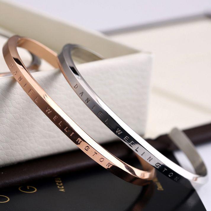 new dw bracelets cuff rose gold silver bangle