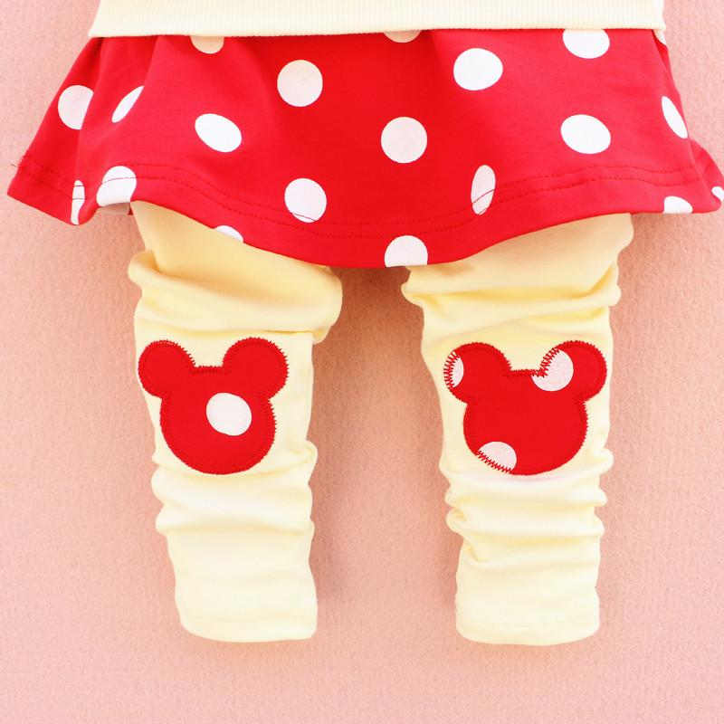 2015 cute baby girls outfits babies clothes dots bow spring newborn baby set children cotton suit hooded+legging skirts child outwear