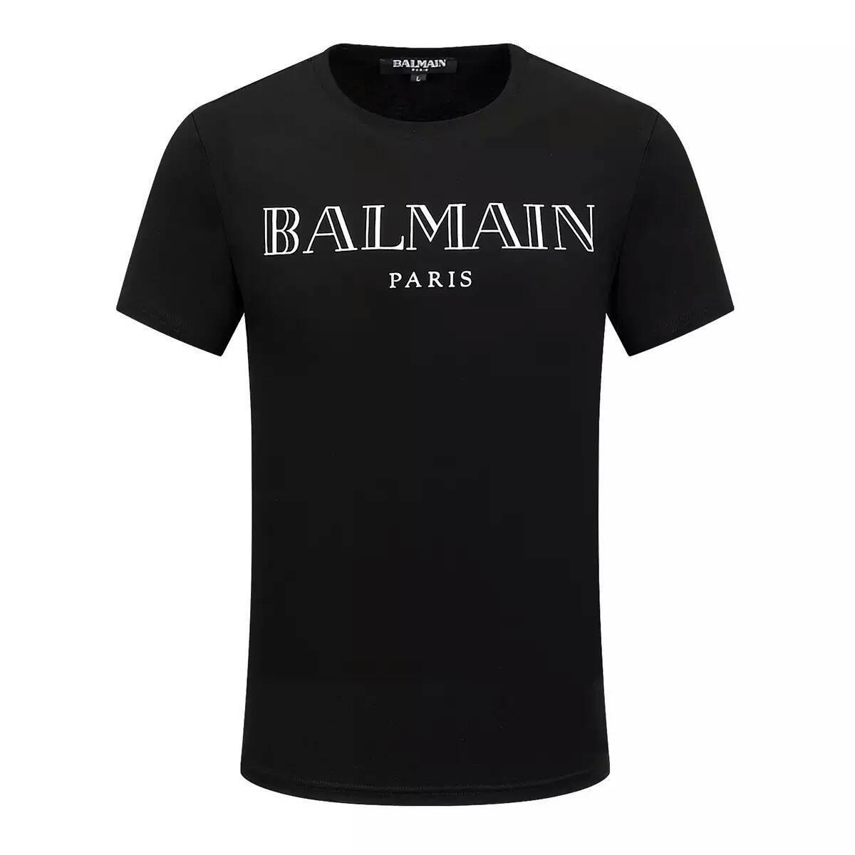 Hott summer tee men 39 s new t shirt balmain paris collor for Logo t shirts online