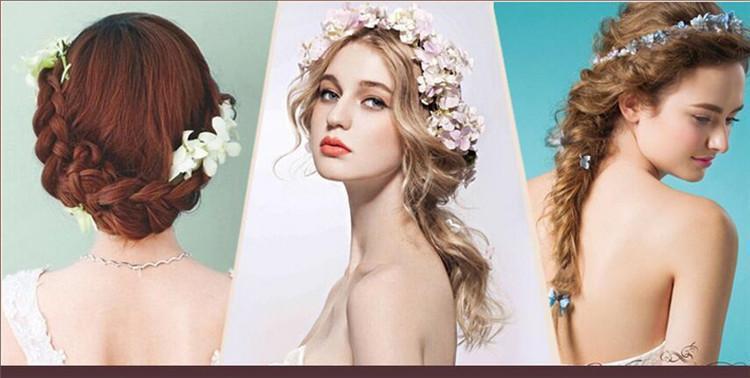 2016 design de Moda Casado Jóia Do Cabelo de Seda de casamento Flor De Noiva pino de cabelo artificial flor hortênsia Cabelo Vara acessórios para o cabelo
