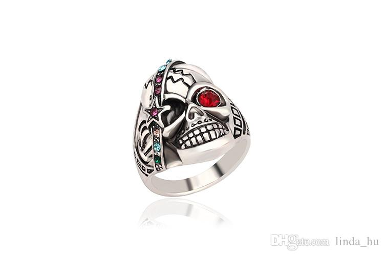 2016 Caliente joyería exagerada europea y estadounidense Offbeat Kito anillo de hombres y mujeres anillos de pareja dedo anillo de diamantes