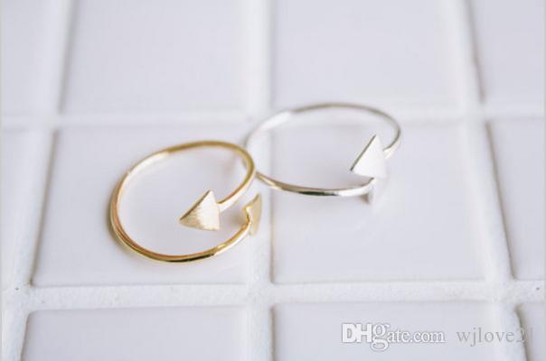2016 Moderne Réglable Pulseiras Métal Or Argent Plaqué Simple Double Flèche Charme Wrap Bracelets / Bracelet Femmes Hommes Bijoux