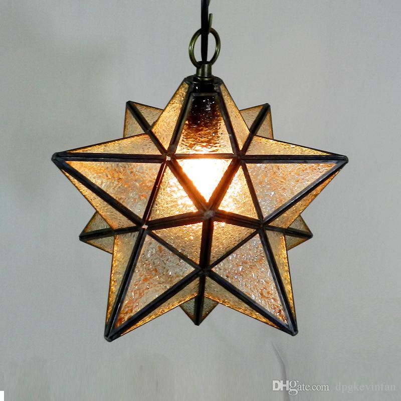 Sconti Plafoniera a soffitto in vetro vintage monoviano Moravian lampade da cucina