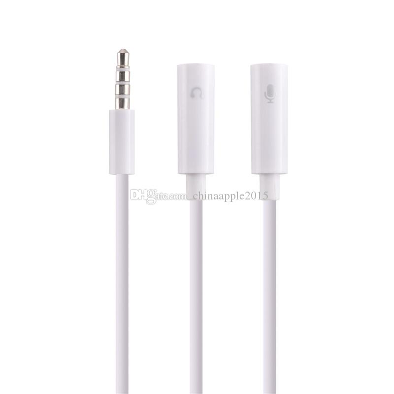 Universal 3.5 mm 1 Male to 2 Dual Female Headphone Audio Plug Y Splitter Adapter Cable Earphone Headset Jack for iphone Samsung HTC