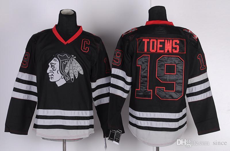 2016 novo Chicago Blackhawks Jerseys 19 Jonathan Toews Hóquei No Gelo Jersey preto costurado com logotipo do nome do jogador barato China Swearsport Jerseys