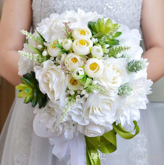 Beautiful June Wedding Flowers Arrangements: New Design Beautiful Flowers Holding White Rose Formal