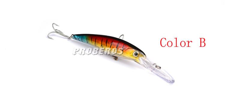 PROBEROS Brand ABS Plastic Crank Minnow Fishing Lures 2#hooks 16cm 33g Hot laser hard fishing bait fishing tackle