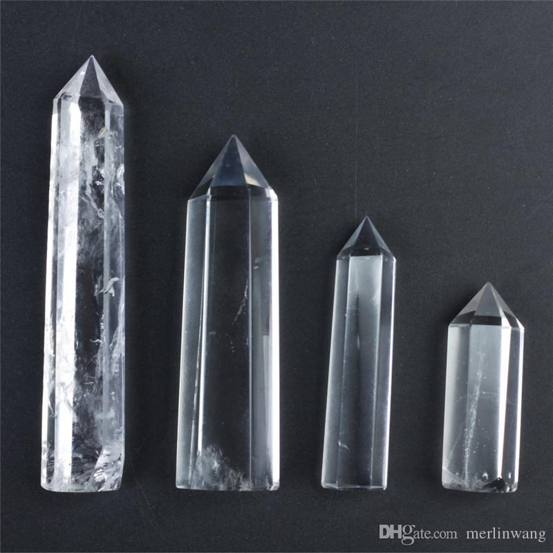 HJT wholesale hot sell New natural clear crystal point quartz points reiki healing point Cure chakra stone