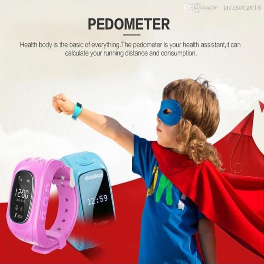 Bestselling Q50 Wristwatch Smartwatch Q50 Smart Watch Child GPS Tracker Bluetooth Smart Watches Remote Monitor Double Locate SOS Kids