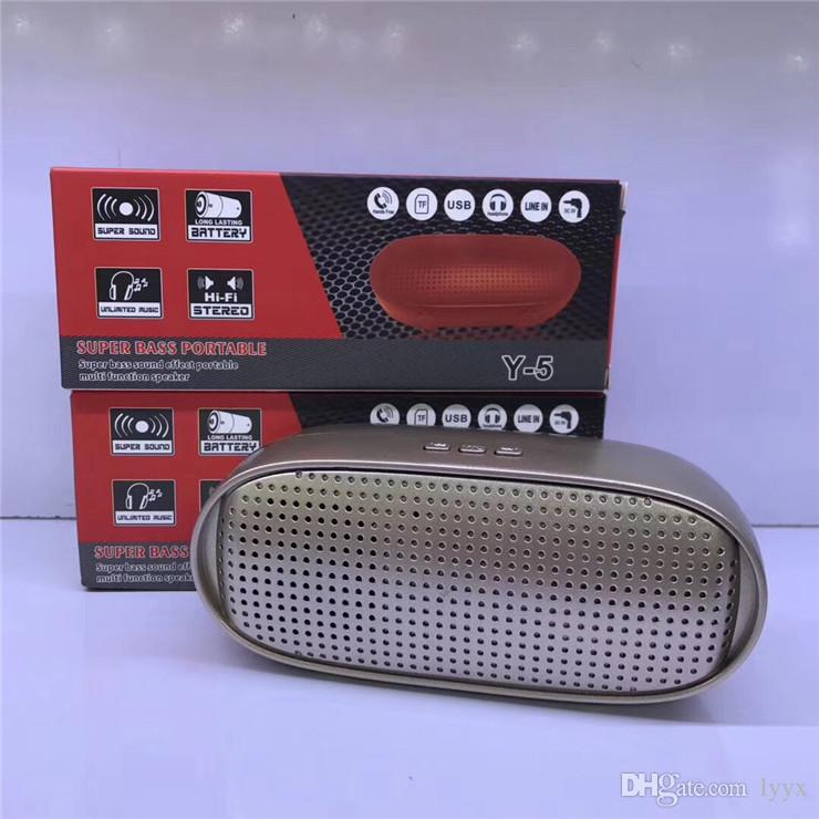 Hot High-end Quality Wireless Bluetooth Speaker Y5 Mini Music Player Outdoor Speaker, The Best Sound Quality, Super Bass