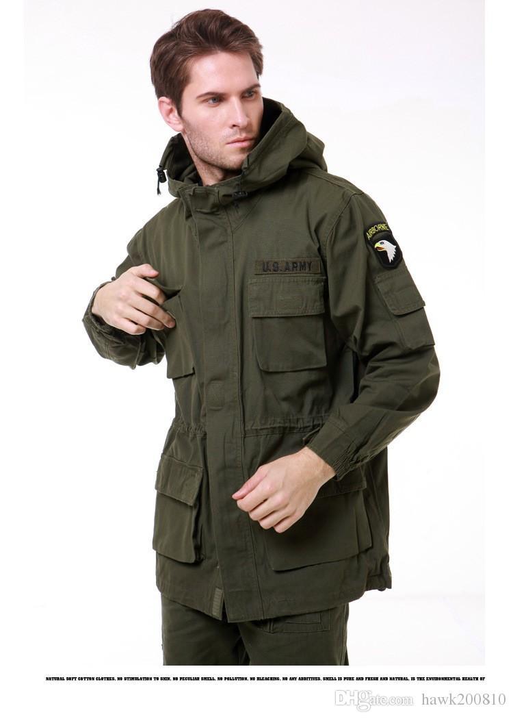 M65 style militaire vestes pour hommes manteau pilote usa armée 101 air force bombardier veste extérieure