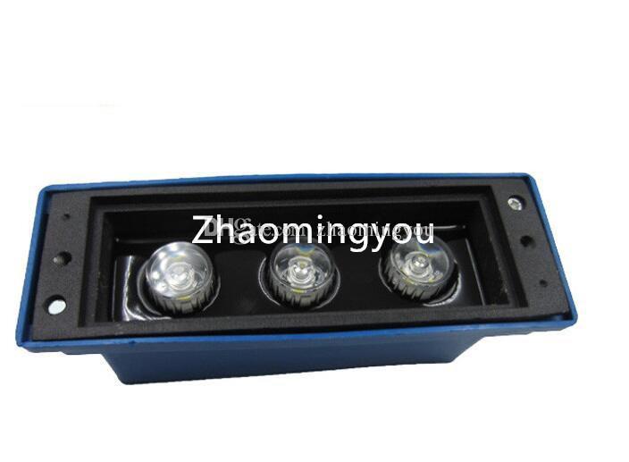 Luz de pared 4W Luz de pared empotrada al aire libre Focos empotrados Lámpara de escalera led 110 V / 220 V Luz de escalera de camino al aire libre impermeable al aire